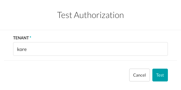 Test Authorization Dialog - oAuth