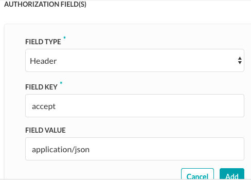 Authorization Fields for Basic Auth