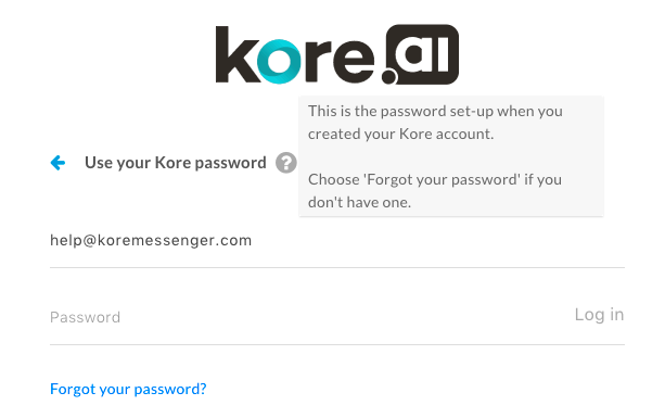 Using Your Password to Log On to the Bots Admin Console without SSO