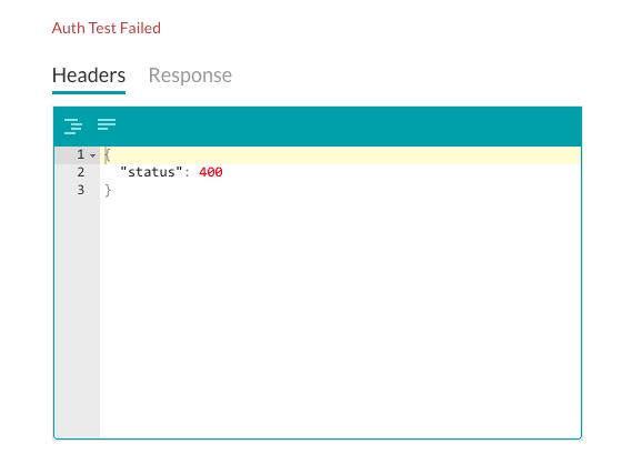 Authentication Test Fail