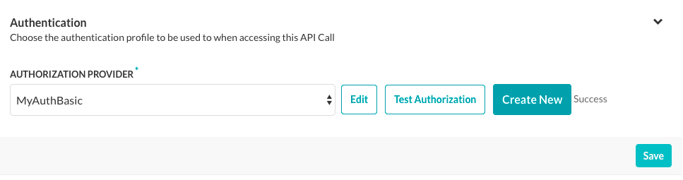 Test Authentication - Success