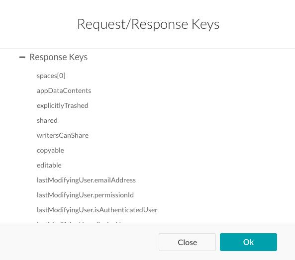 Response Keys