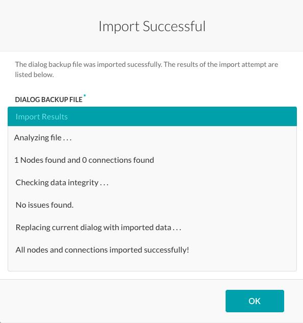 Import Successful Dialog