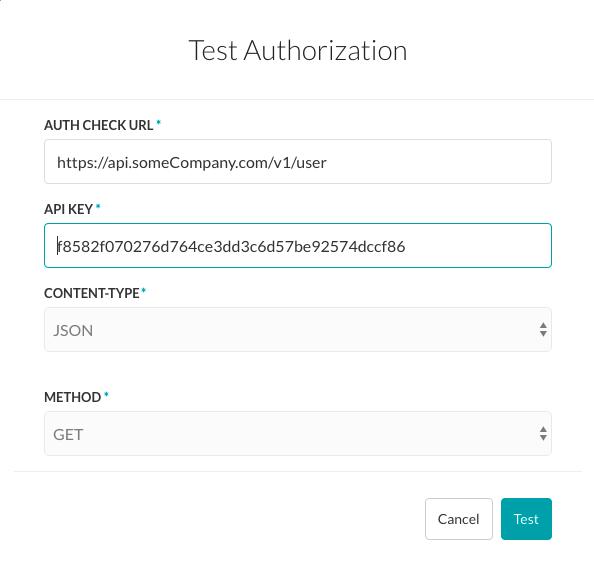 Test Authorization - API Key