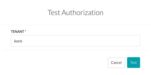 Test Authorization Dialog - oAuth