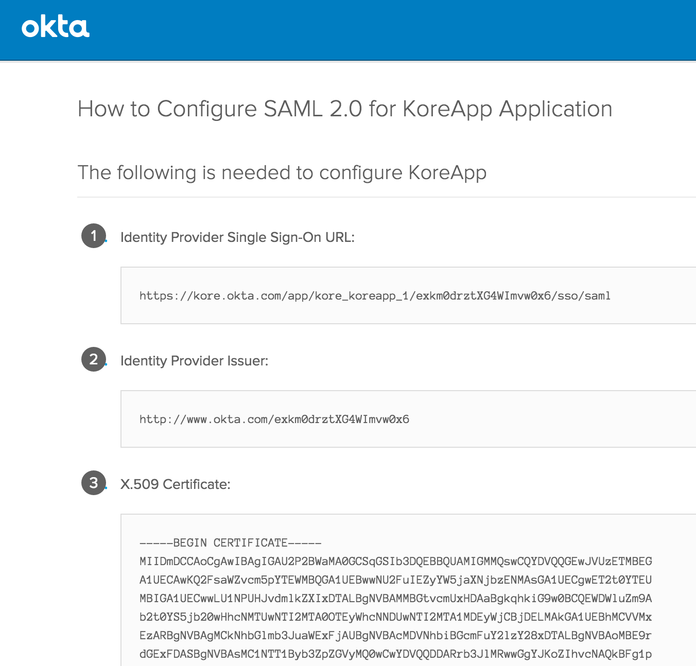 Okta Single Sign-On