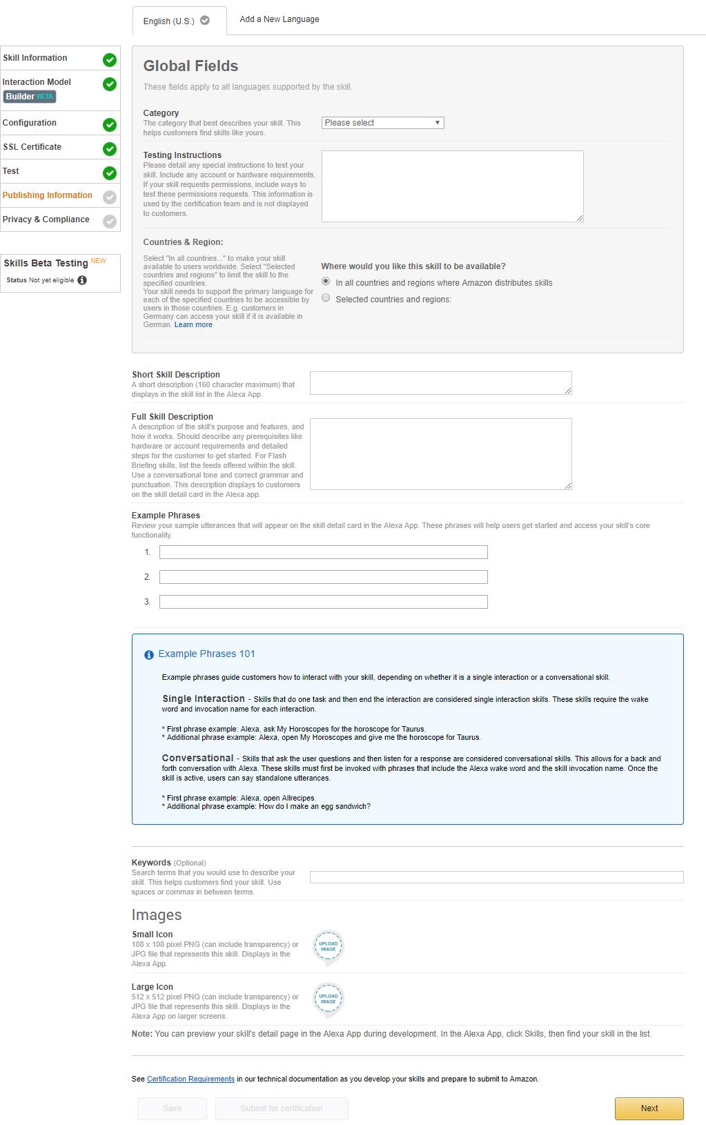 Adding the Amazon Alexa Channel - Kore ai Documentation